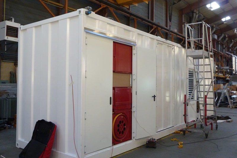 installation groupe électrogène industriel container
