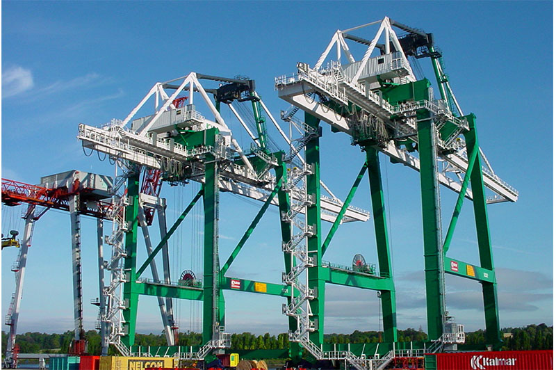 Ingénierie et travaux neufs - application portique containers l Flipo Richir