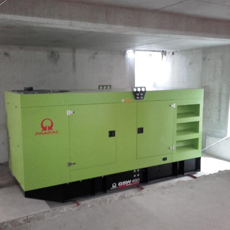 Groupe électrogène Pramac installé par Flipo Richir