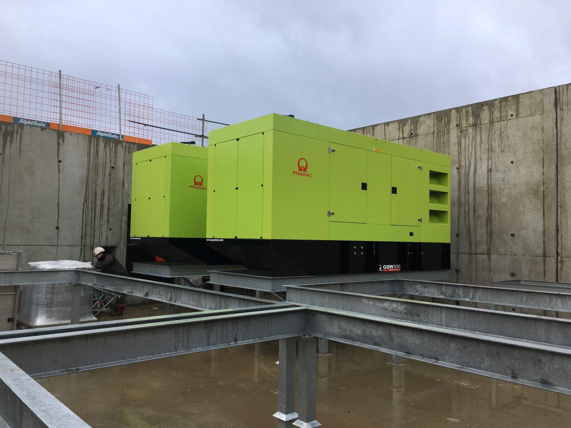 Installation de 2 groupes électrogènes à Metz