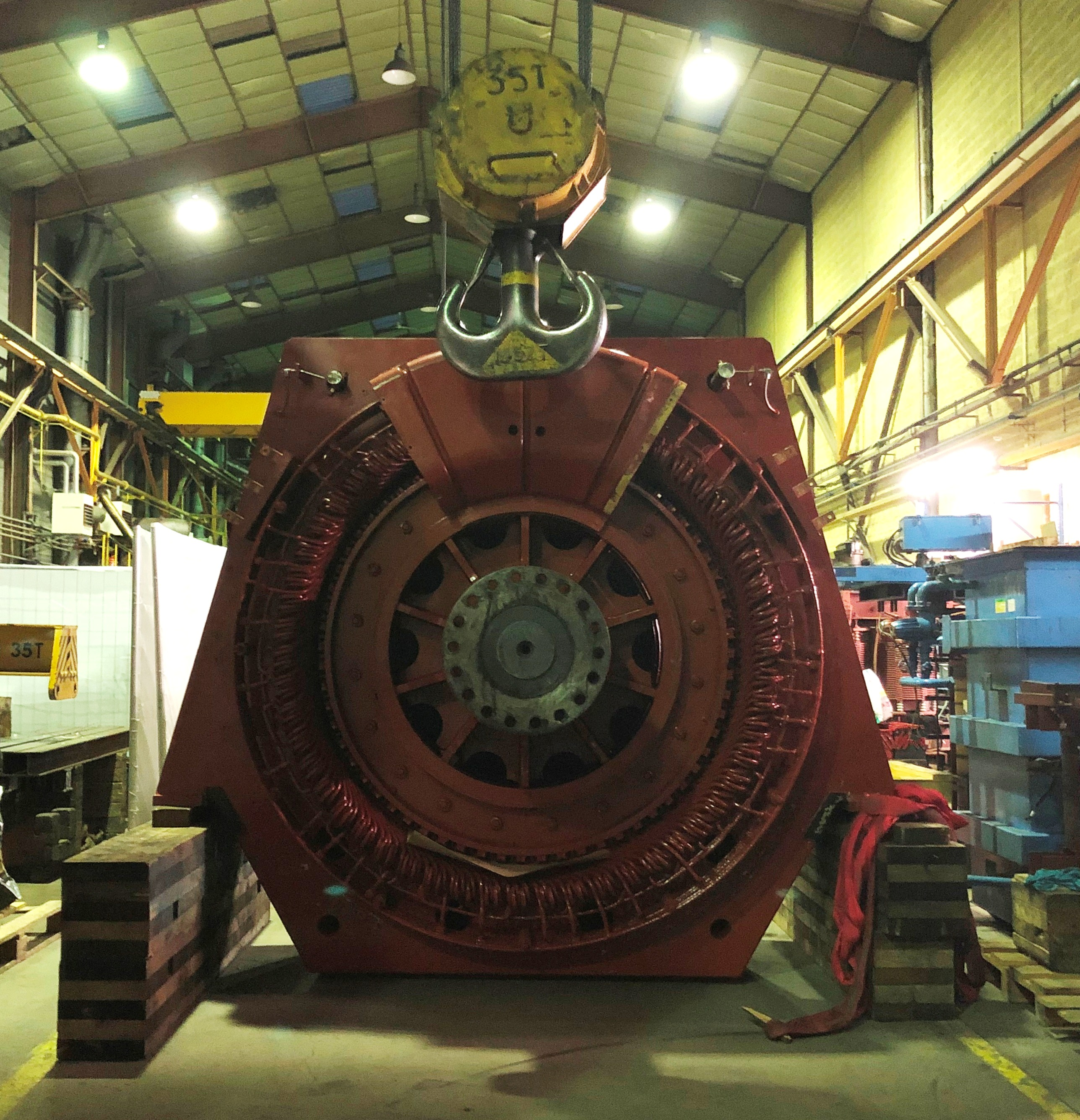 Intervention d'urgence moteur 3 MW l Flipo Richir