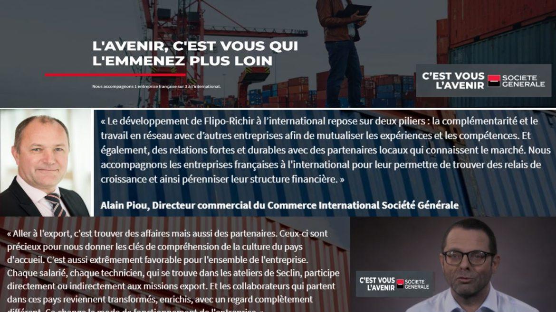 Interview sur le développement international des PME l Flipo Richir