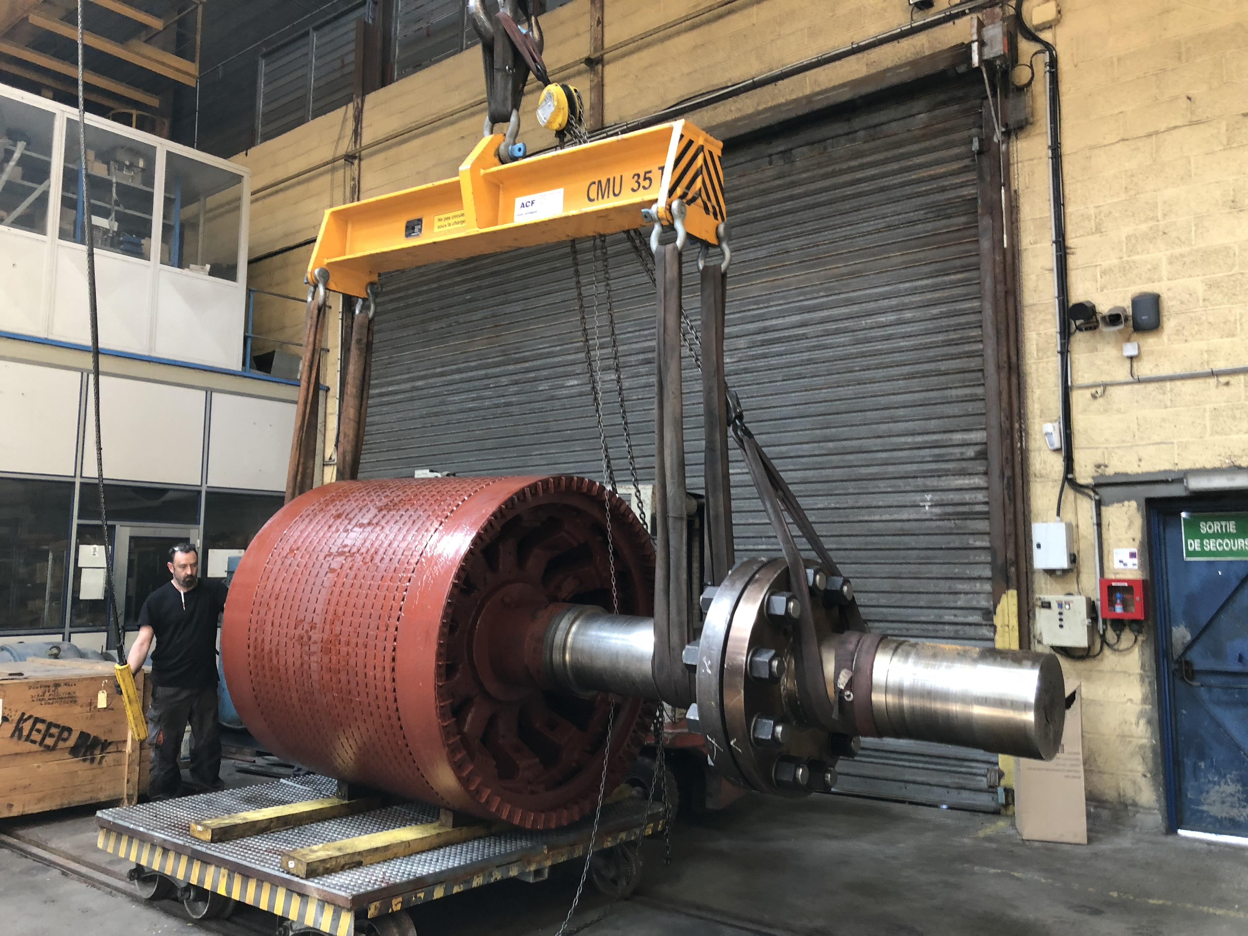 Travaux d'entretien importants sur un moteur à rotor bobiné - Flipo Richir