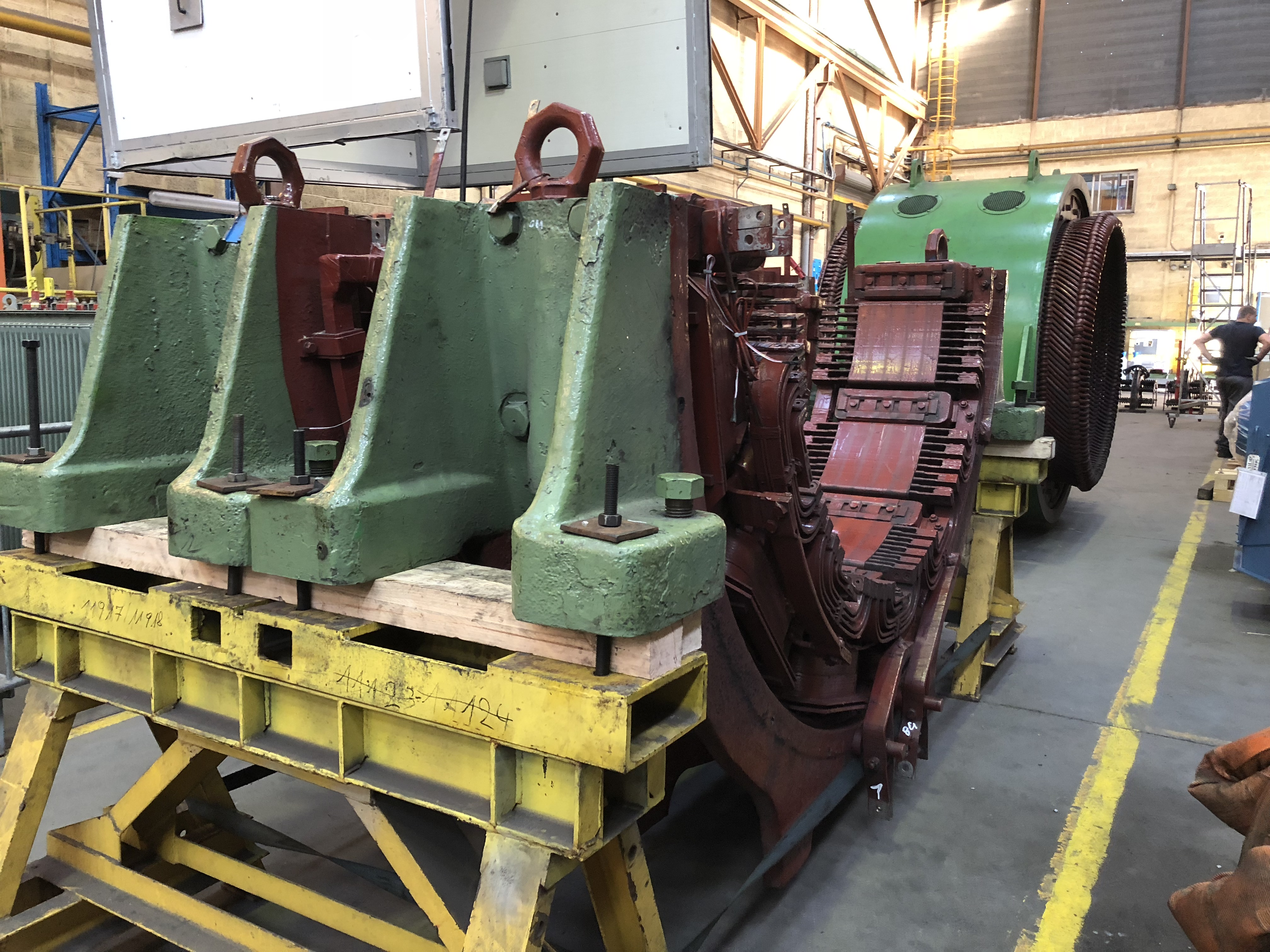 Demi-carcasses de moteurs à Courant continu - Flipo Richir