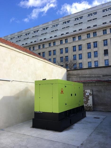 Installation d'un groupe électrogène à Paris capoté et insonorisé - Flipo Richir