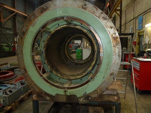 Révision de deux alternateurs de centrale hydrolélectriques en atelier - Flipo Richir