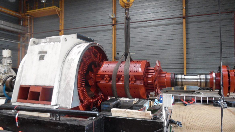 Entretien d'un alternateur Turbine Vapeur Sucrerie de 19 MVA l Flipo Richir
