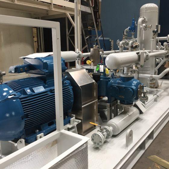 Câblage d'un équipement de compression de gaz l Flipo Richir