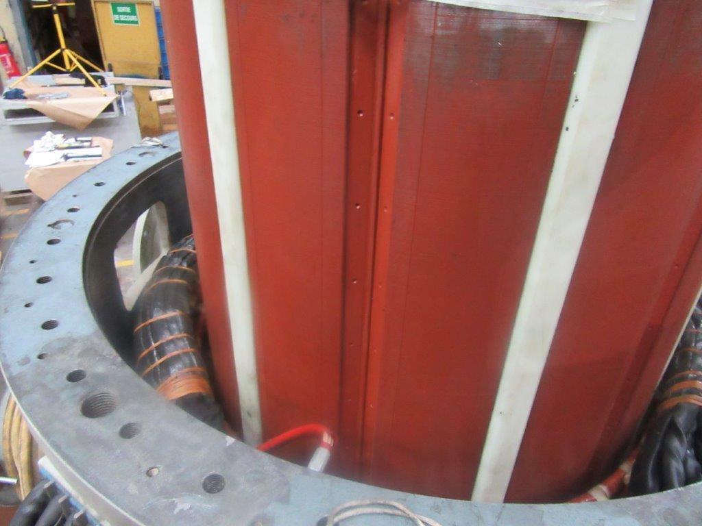 Entretien d'une génératrice d'éolienne synchrone puissance l Flipo Richir