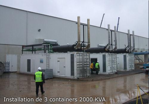Installation de 3 containers 2000 kVA l Flipo Richir