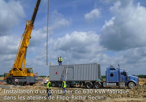 Installation d'un container 630 kVA l Flipo Richir