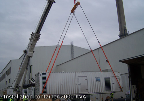 Installation container 2000 kVA l Flipo Richir