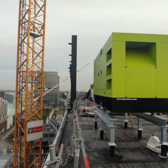 Installation groupe électrogène de sécurité au site d'Euralille l Flipo Richir