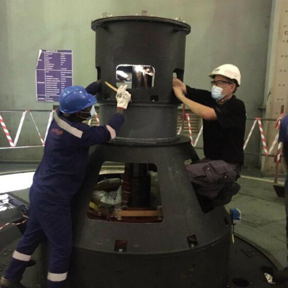 Mise en service du 6 ème groupe de la centrale hydroélectrique d'EDEA l Flipo Richir 3