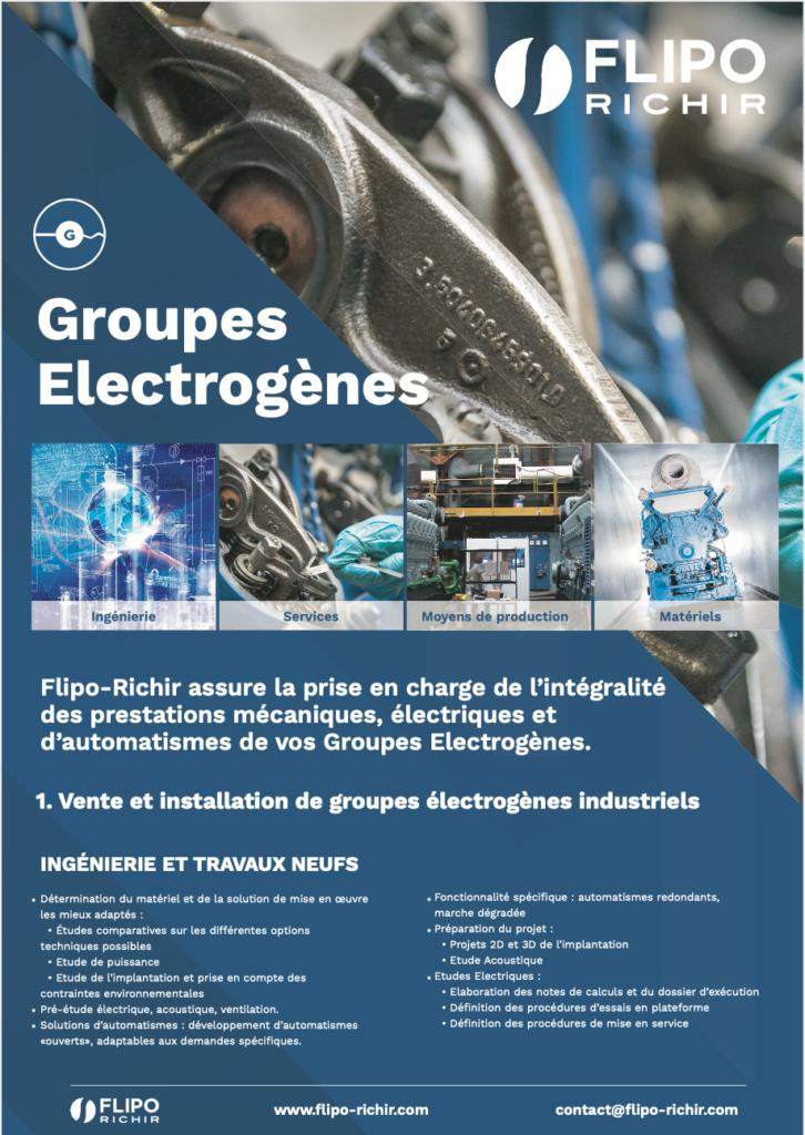 Plaquette groupes électrogènes l Flipo Richir
