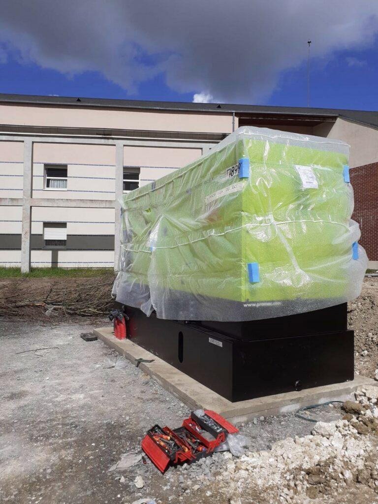 Pose Groupe électrogène de sécurité pour le centre hospitalier d'Albert l Flipo Richir