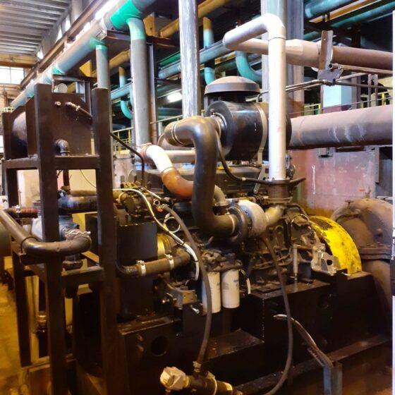 Remplacement moteur diesel et automatisme d'une motopompe de secours 1 l Flipo Richir