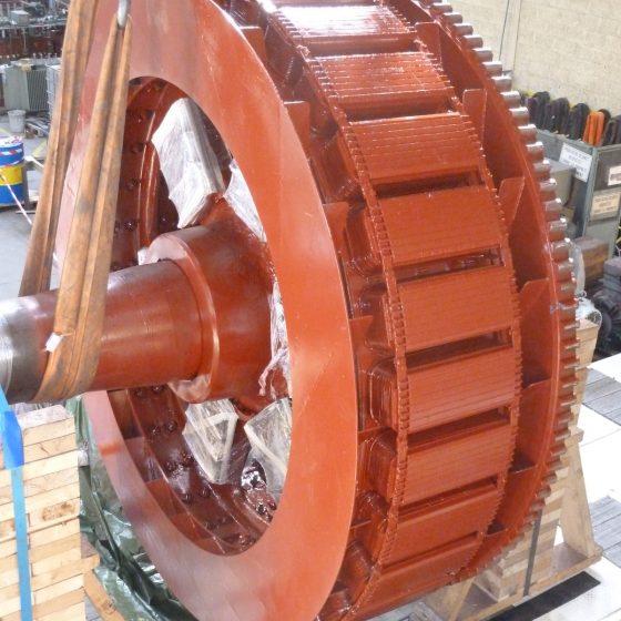 Entretien et bobinage machine synchrone production de gaz l Flipo Richir